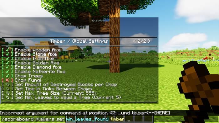 Timber Datapack 1.15.2
