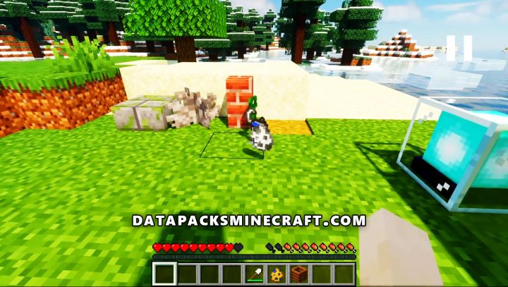 jumping give random items Data Pack