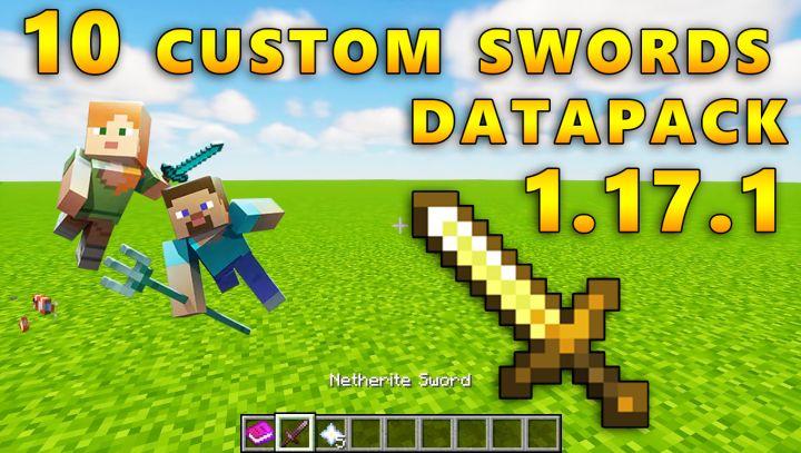 10 Custom swords DataPack 1.17.1