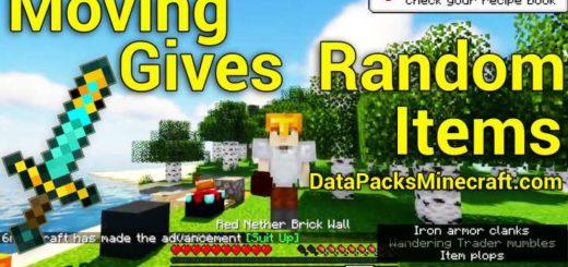 Moving Gives Random Items 1.17.1